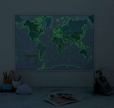 25 unique World Maps for any Traveler's Home